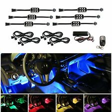 6 Pods 7-Color RGB LED Underbody & Interior Car Accent Lighting Kit