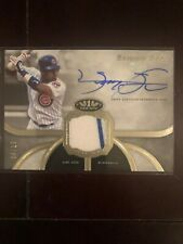 SAMMY SOSA 2020 TOPPS TIER ONE GAME USED PATCH AUTO # 4/10 CHICAGO CUBS PARALLEL