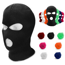 Men Face Mask Winter Ski Cap 3 Hole Balaclava Beanie Hat Hood Tactical Warm US