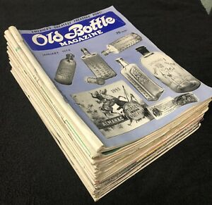 22 ISSUES!! Old Bottle Magazine 1973 and 1974