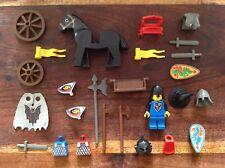 Lego lot n°1 de personnages Chevalier Chateau Vintage avec accessoires