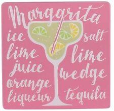 Cocktail di legno rendendo ricetta di istruzioni Coaster ~ Margarita
