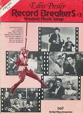 Elvis Presley Record Breakers #3 Greatest Movie Songs - 1970s Sheet Music Book