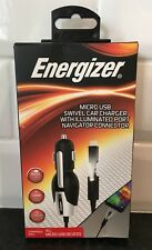 Energizer USB Swivel Car Charger With Illuminated Port Navigator Connector NIB