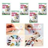 5 Packs Fujifilm instax Mini Film,50 Fuji instant photos Mini 9 8 7s 90 25 55i
