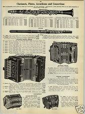 1923 PAPER AD Grenadilla Wood Clarionet Flute Piccolos Vienna Accordeons