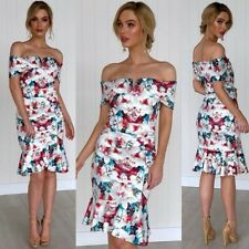 Floral Dress Off The Shoulder Size 14 Work Party Engagement Cocktails Evening