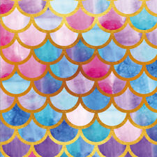 Colorful Mermaid Scale Photography Background 8x8ft Summer Artistic Backdrops