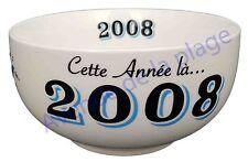 Bol année de naissance 2008 en grès - idée cadeau anniversaire neuf