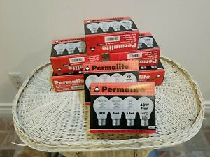 (28) 40 Watt Permalite Incandescent Light Bulbs Frost 1000 Hour LOT NEW