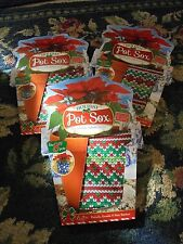 "Holiday pot sox stretchable fabric cover 8"" Kimco christmas holiday NIP LOT"