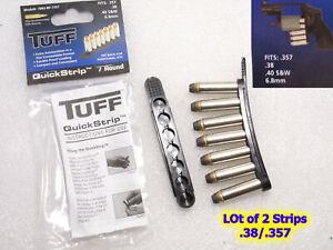BP-7357 TUFF 2 Pack QuickStrip 7 Shot Ammo Reloading Strip 38 357 40 Rifle 6.8mm