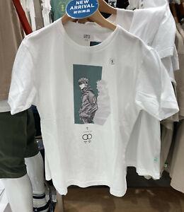 NWT UNIQLO UT Jujutsu Kaisen Gojo Satoru MEN White Short Sleeve T-shirt TEE