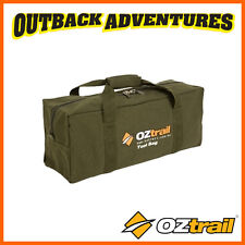 OZTRAIL CANVAS TOOL BAG - STORAGE FOR TOOLS HAMMERS ROPES - FREE POSTAGE -