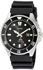 Casio Men's Quartz Diver Rotating Bezel Black Resin Band 44mm Watch MDV106-1A