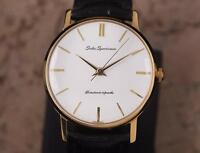 Seiko Sportsman Mens 35mm Made in Japan 1960s Gold Plated Classic Watch YY14