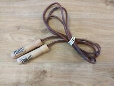 Vintage Everlast Skipping Jump Rope Leather Weighted Bearings - Free P&P