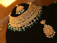 Indian Necklace Set Choker Jewelry Gold Bollywood Fashion Bridal Wedding Earring