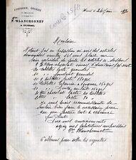 """HURIEL (03) CONFISERIE EPICERIE MERCERIE """"Vve BLANCHONNET"""" en 1930"""