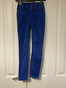 New Look Girls Age 9 Years High Waisted Skinny Jeans Blue Brand New