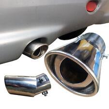 Salida de tubo de escape curvo oval Cromado de metal cromo