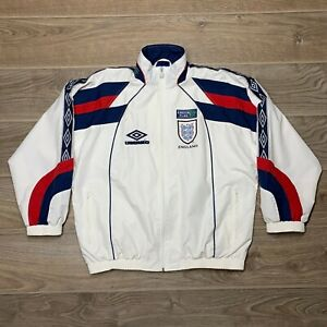 England National Team 1990's Vintage Football Soccer Track Jacket size L
