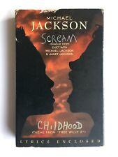 Michael Jackson - Scream with Lyric Sheet Insert - Cassette EPC6620224