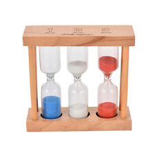 1/3/5Min Wood Frame Glass Sand Sandglass Hourglass Timer Clock Time Decor Gift@