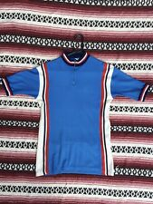 VINTAGE 1970s BELGIAN KNIT CYCLING JERSEY BICYCLE RACE TOUR DE FRANCE CAMPAGNOLO