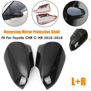2×Car Reversing Mirror Protective Shell Cover Trims Fit For Toyota CHR 2016-2018