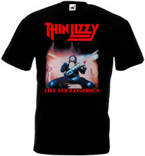 Thin Lizzy Live and Dangerous v2 t-shirt black all sizes S-5XL