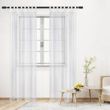 Dekoschal Alex halbtransparent Vorhang seidig glänzend Übergardine Ösen Gardine