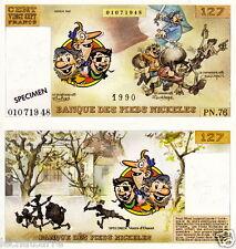 Pieds Nickelés - Billet de Banque de 127 Francs - Eds. Vents D'Ouest - 1990 - HC