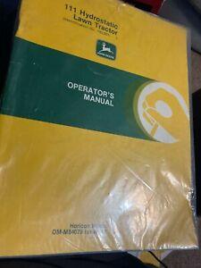 John Deere  111 MOWER Lawn and Garden Tractor Operator's Manual