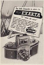 Z3707 Macchina fotografica EXAKTA - Pubblicità d'epoca - 1940 old advertising