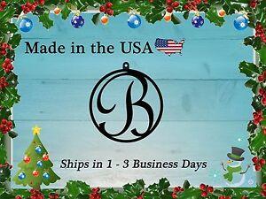 "4"" Monogram Christmas Ornament, Christmas Present, Personalized Gift, LRO1001"