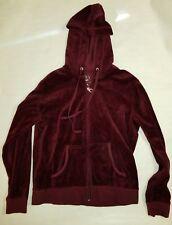 Women's New York & Co. Maroon Long Sleeve Hoodie with Embellishments Size Medium