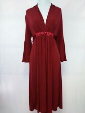 Max and Cleo Women's Dress size S Rusty Red Tie Back 3/4 Bell Sleeves