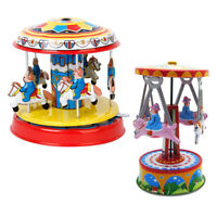 2 Pcs Classic Clockwork Wind Up Tin Toys Kids Adult Unisex Fun Party Favour