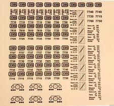 LEGO Aufkleber-Ersatzset Eisenbahn Zug Sticker DB 12V z.B. 7740, 7722 105 Stücke