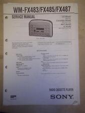 Sony Service Manual~WM-FX483/485/487 Walkman Radio Cassette Player~Original