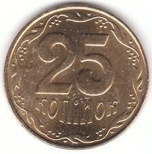 2010 Ucrania 25 Kopiyok Aluminio moneda de bronce