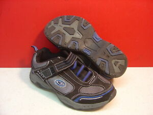 Boy's CHAMPION Silver, Blue, & Black Hook & Loop Athletic Shoes Size 1