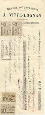 VITTE LOGNAN draperie à LONS-LE-SAUNIER 1918