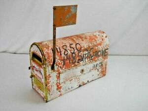 RARE!!!  ANTIQUE 1902 STYLE H BATES-HAWLEY MAILBOX CAST IRON TIN JOLIET IL