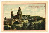 Antique colour printed postcard Koln A Rh Hohenzollernbrucke Germany