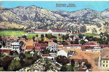 Montenegro 1920s Cetinje,aerial general viewa,old original postcard