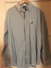 kangol branded blue chambray men's shirt large excellent condition