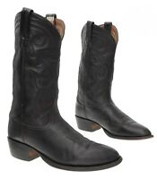 TONY LAMA Cowboy Boots 9.5 D Mens Deer Tan Leather Western Rodeo Boot Motorcycle
