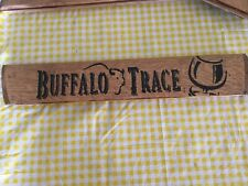 Buffalo Trace Advertising Sign Made From A Bourbon Barrel Stave